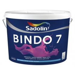 Sienų ir lubų dažai SADOLIN BINDO 7, matiniai, CLR bazė, 10 l