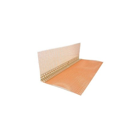 PVC kampas su tinkleliu, 100 x 150 x 2500 mm