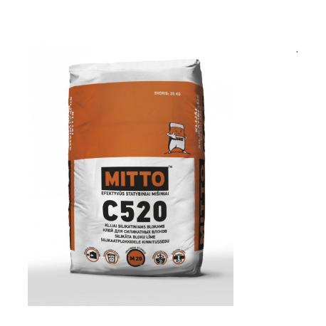 MITTO C520 klijai silikatiniams blokams 25 kg,